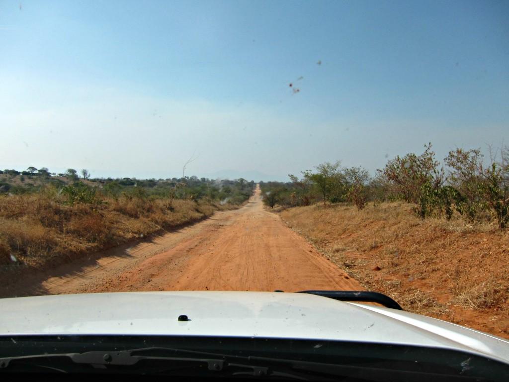 African dirt road
