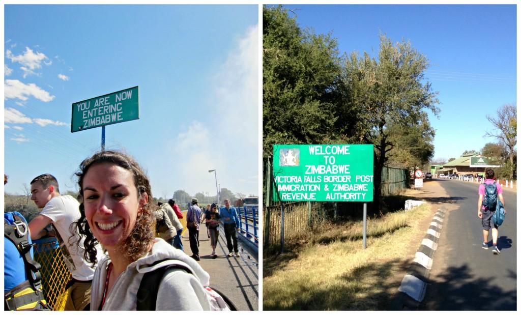 Walking across the border to Zimbabwe