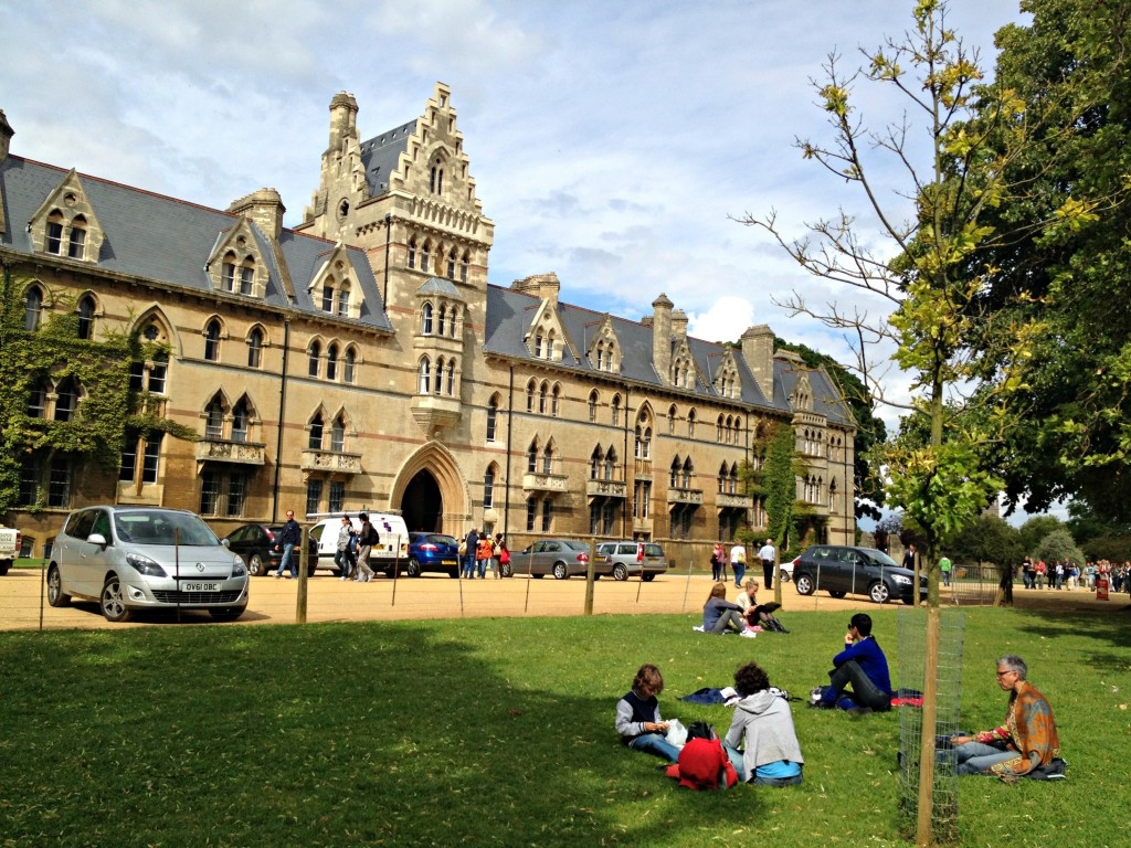 Lovely picnic spot at Oxford University