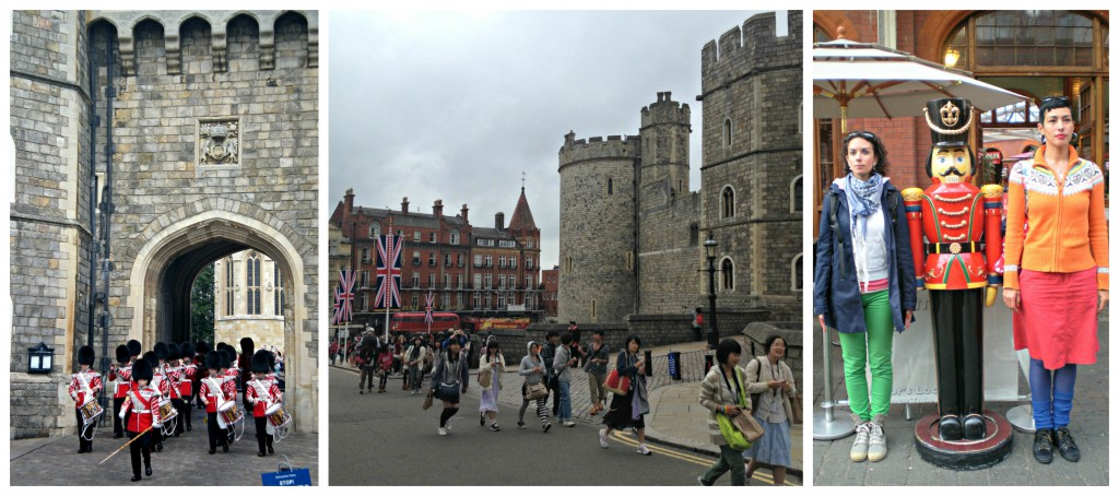 Changing of the guards at Windsor Castle (don't my sis & I make great guards?)