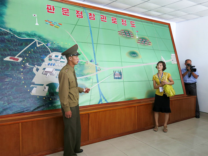 North Korea DMZ border Panmunjom