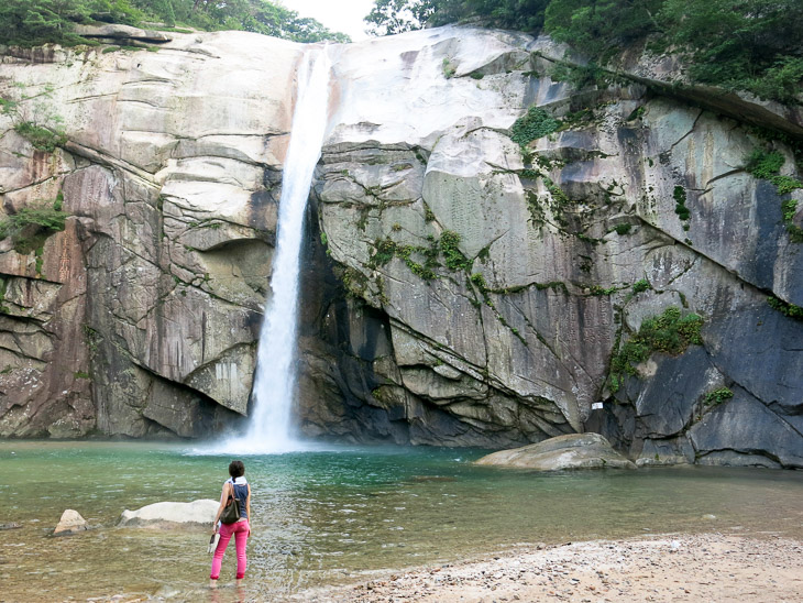 North Korea Pakyon waterfall