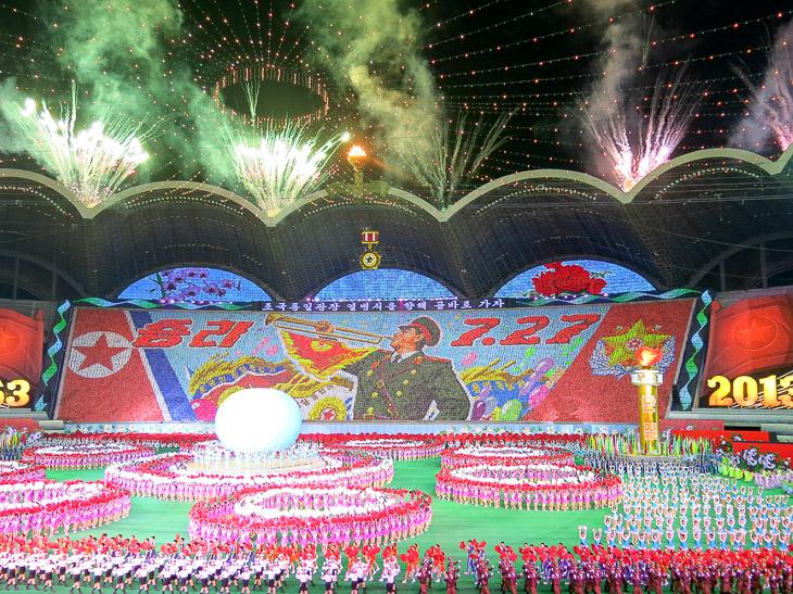 North Korea Pyongyang Arirang mass games