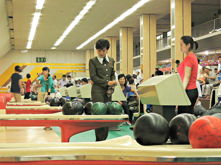 North Korea Pyongyang bowling alley