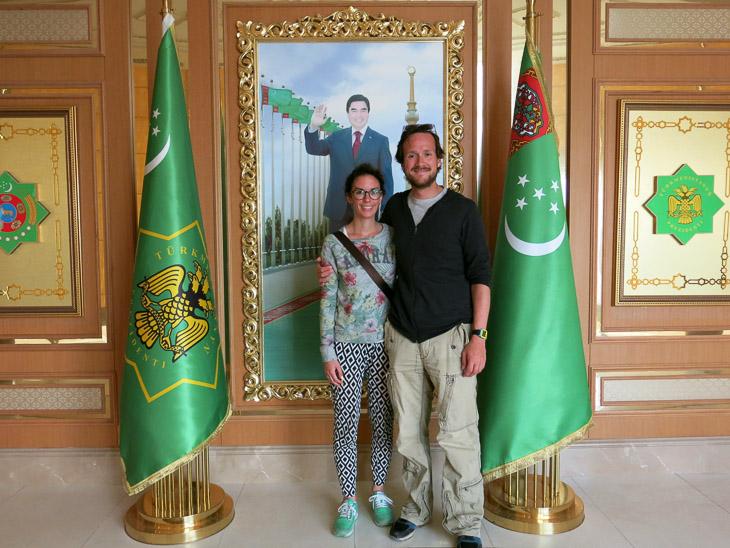 Arch of Neutrality Ashgabat Turkmenistan president