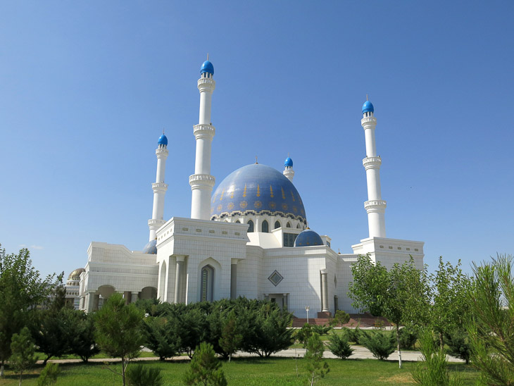 Marble Mary mosque Turkmenistan