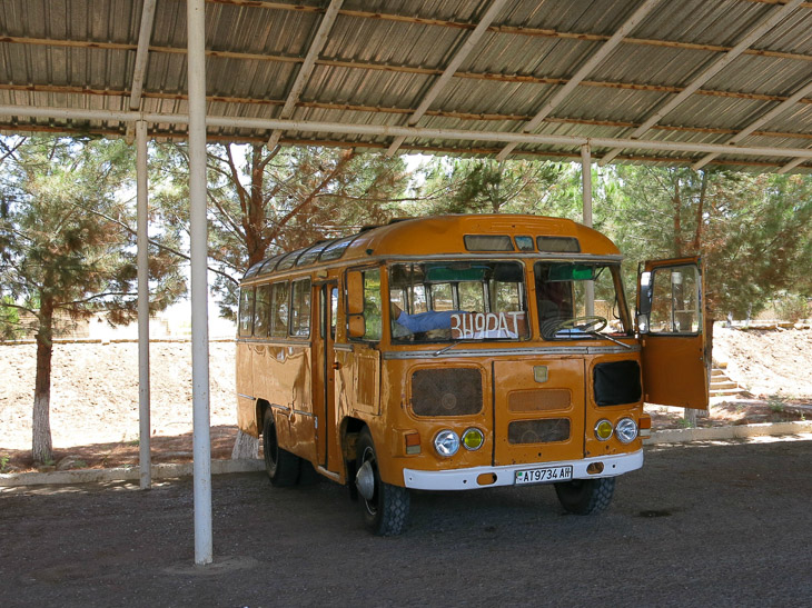 Old vintage bus Turkmenistan