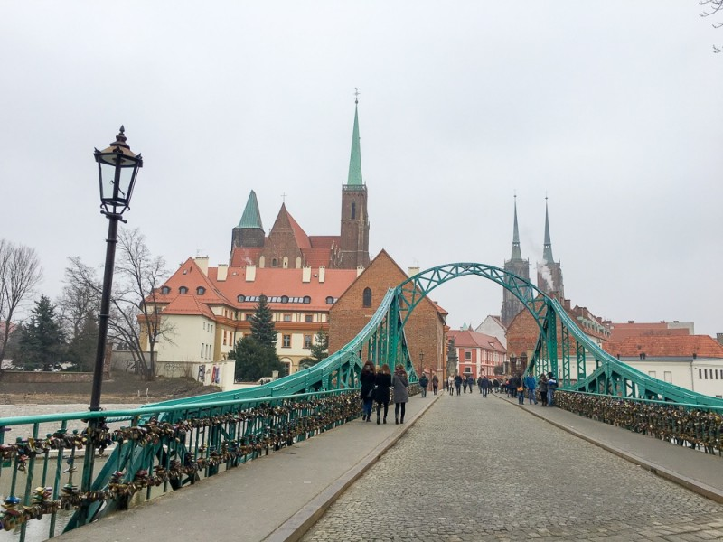Wroclaw Poland Rynek Cathedral Lovers Bridge