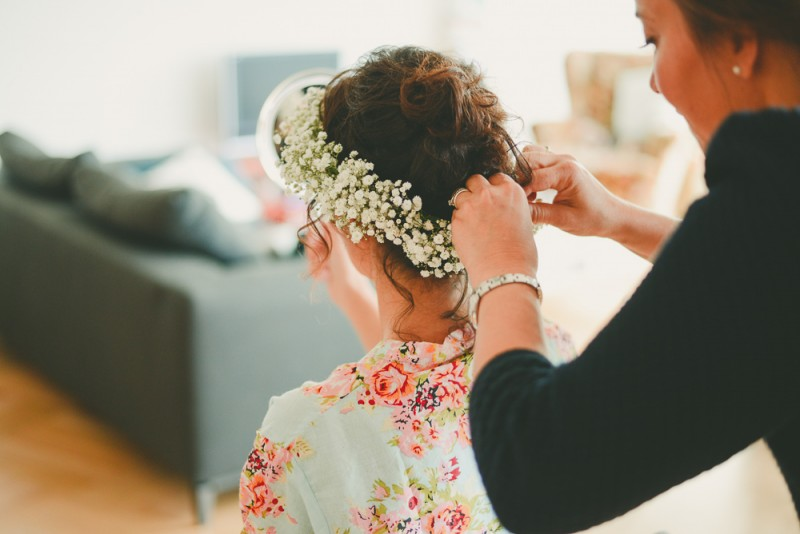 Wedding Amsterdam Bruiloft Fresh Flower Crown