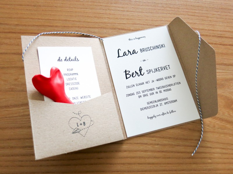 Wedding Invitation DIY Amsterdam Bruiloft