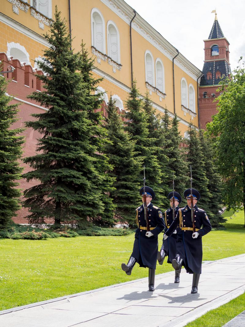 Moscow Russia Travel Weekend Red Square Kremlin Changing Guards