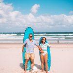 Baby announcement Byron Bay Australia Tallow Beach