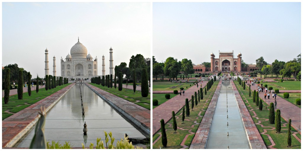 The Taj Mahal - even the entrance is gorgeous (right)