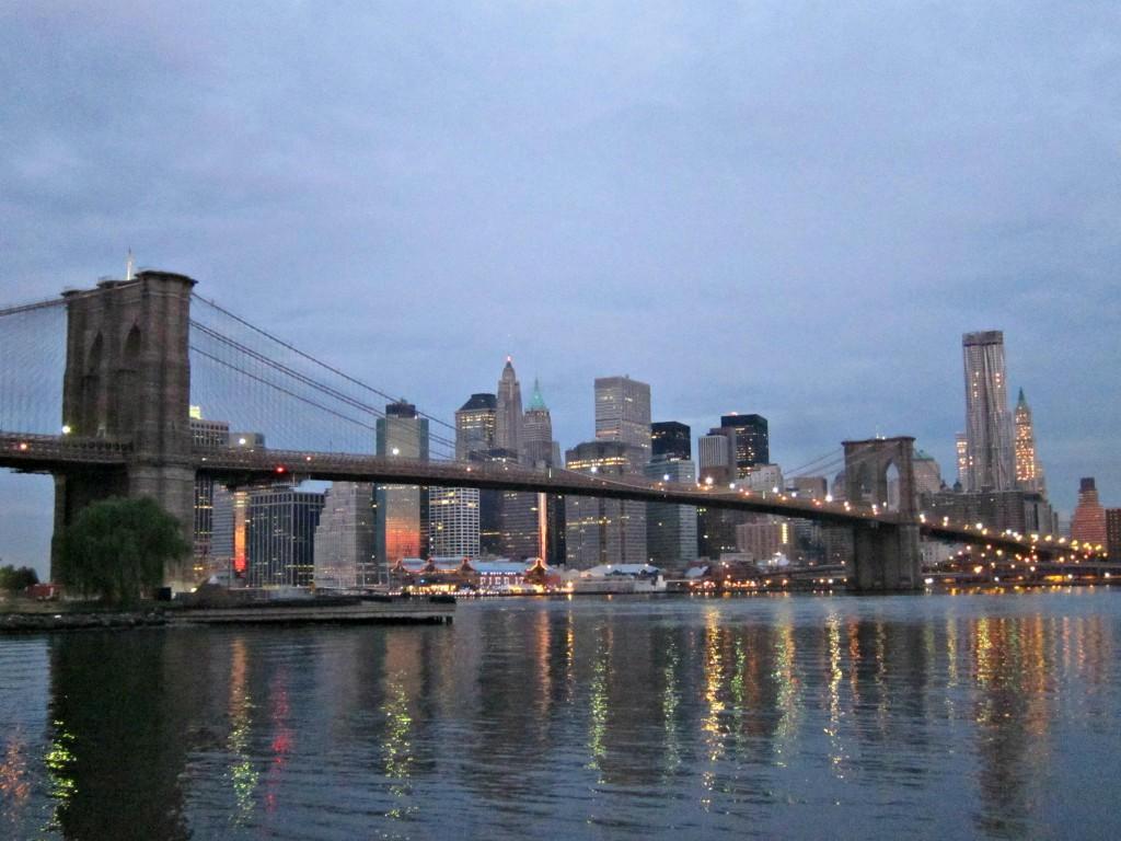 Sunrise over the NYC skyline