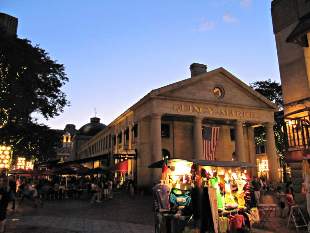 Quincy Market by night