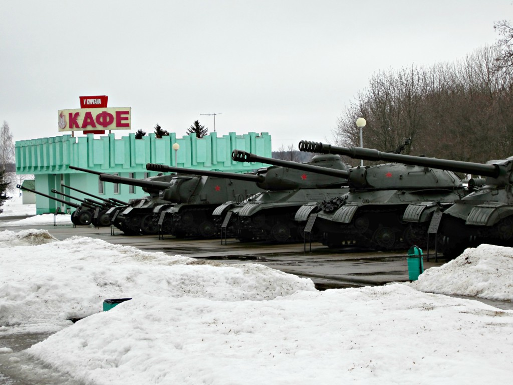 Coffee break? You can park your tank right next door...