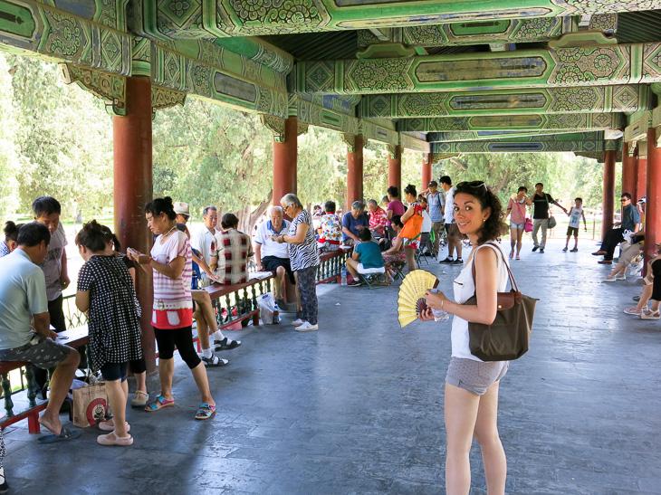 Beijing China Temple of Heaven Park Mahjong