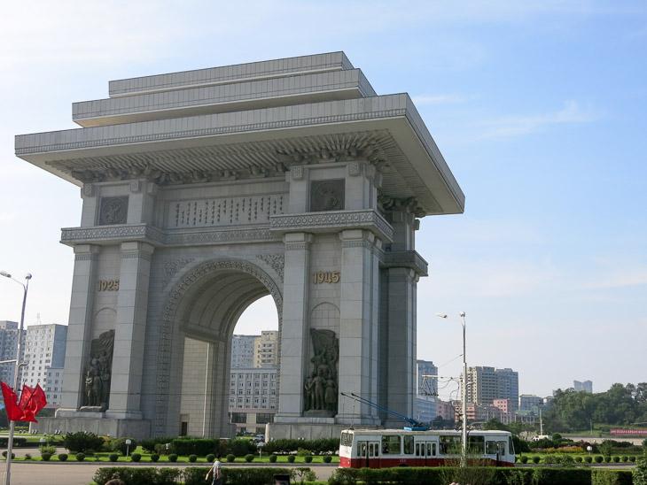 North Korea Pyongyang arch of triumph