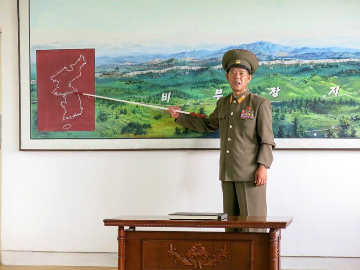 North Korea border concrete wall