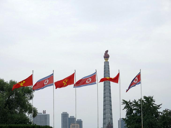 North Korea Pyongyang Juche tower