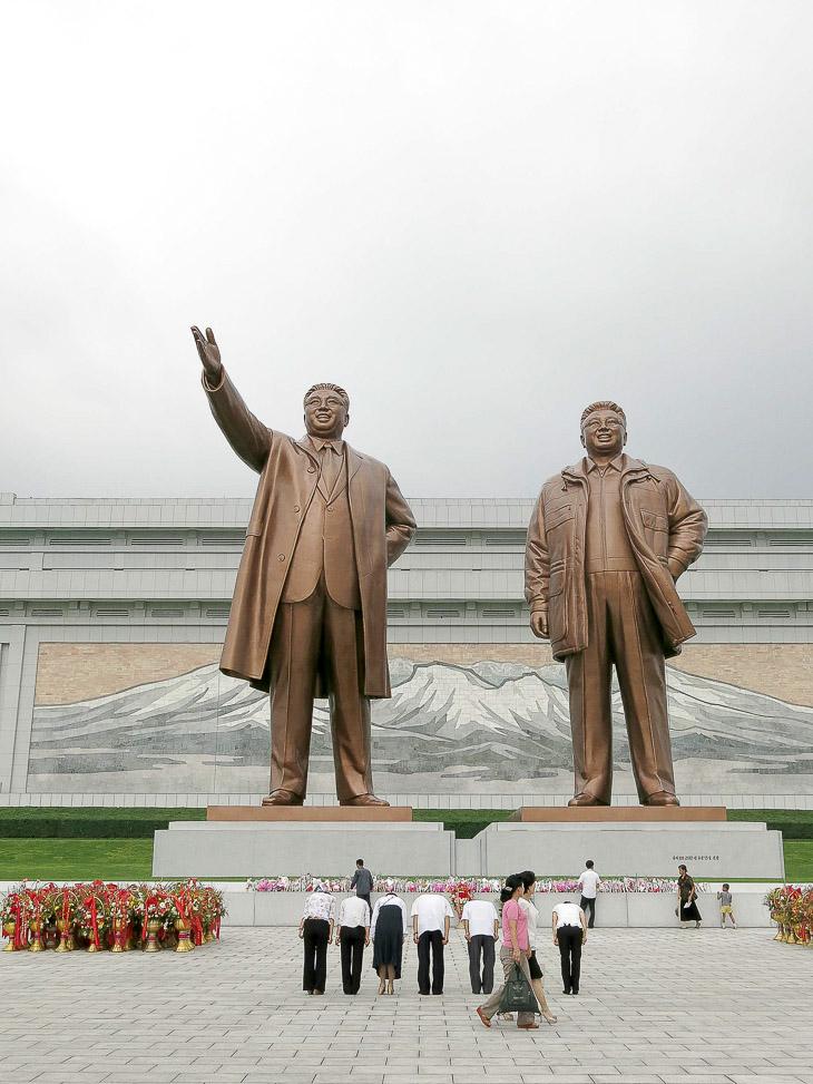 North Korea Pyongyang Kim Jong Il Kim Il Sung