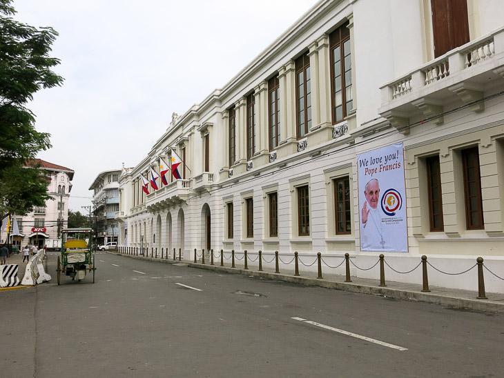 Manila Intramuros Pope Francis