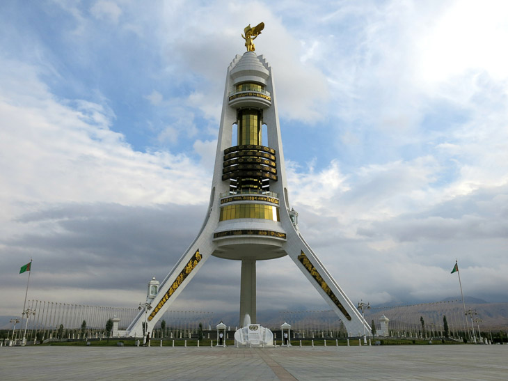 Arch of Neutrality Ashgabat Turkmenistan