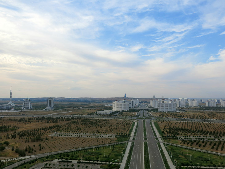 Arch of Nautrality Ashgabat Turkmenistan
