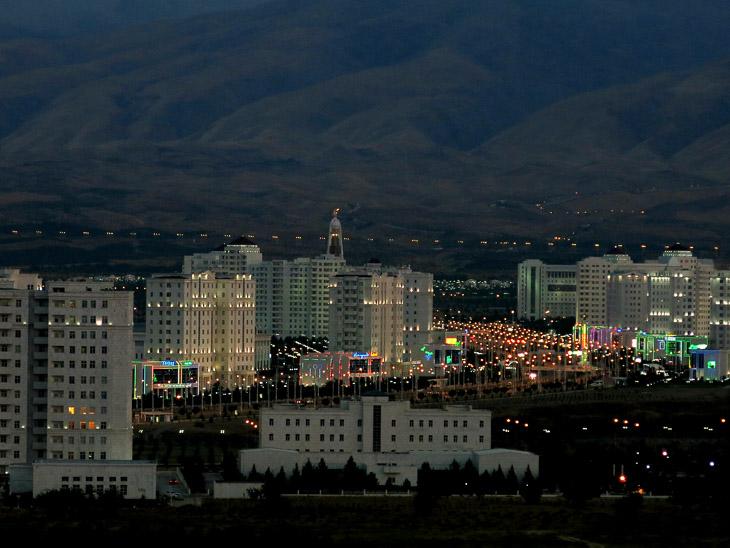 Ashgabat by night Turkmenistan