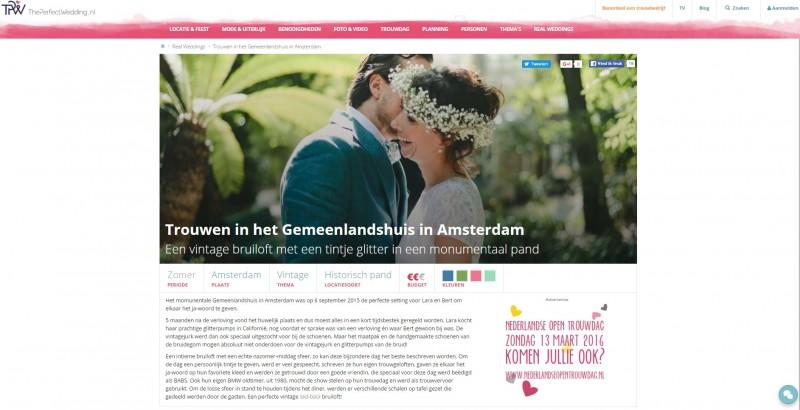 Wedding Bruiloft The Perfect Wedding Amsterdam