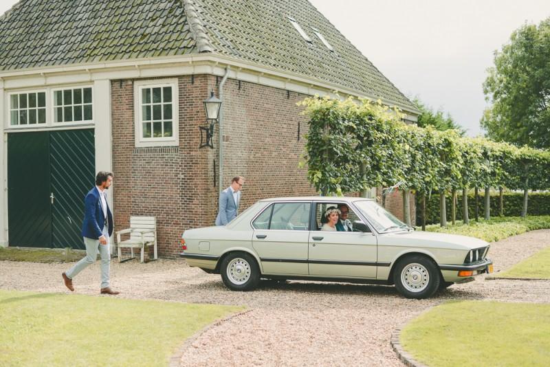 Wedding Amsterdam Bruiloft Gemeenlandshuis Vintage BMW