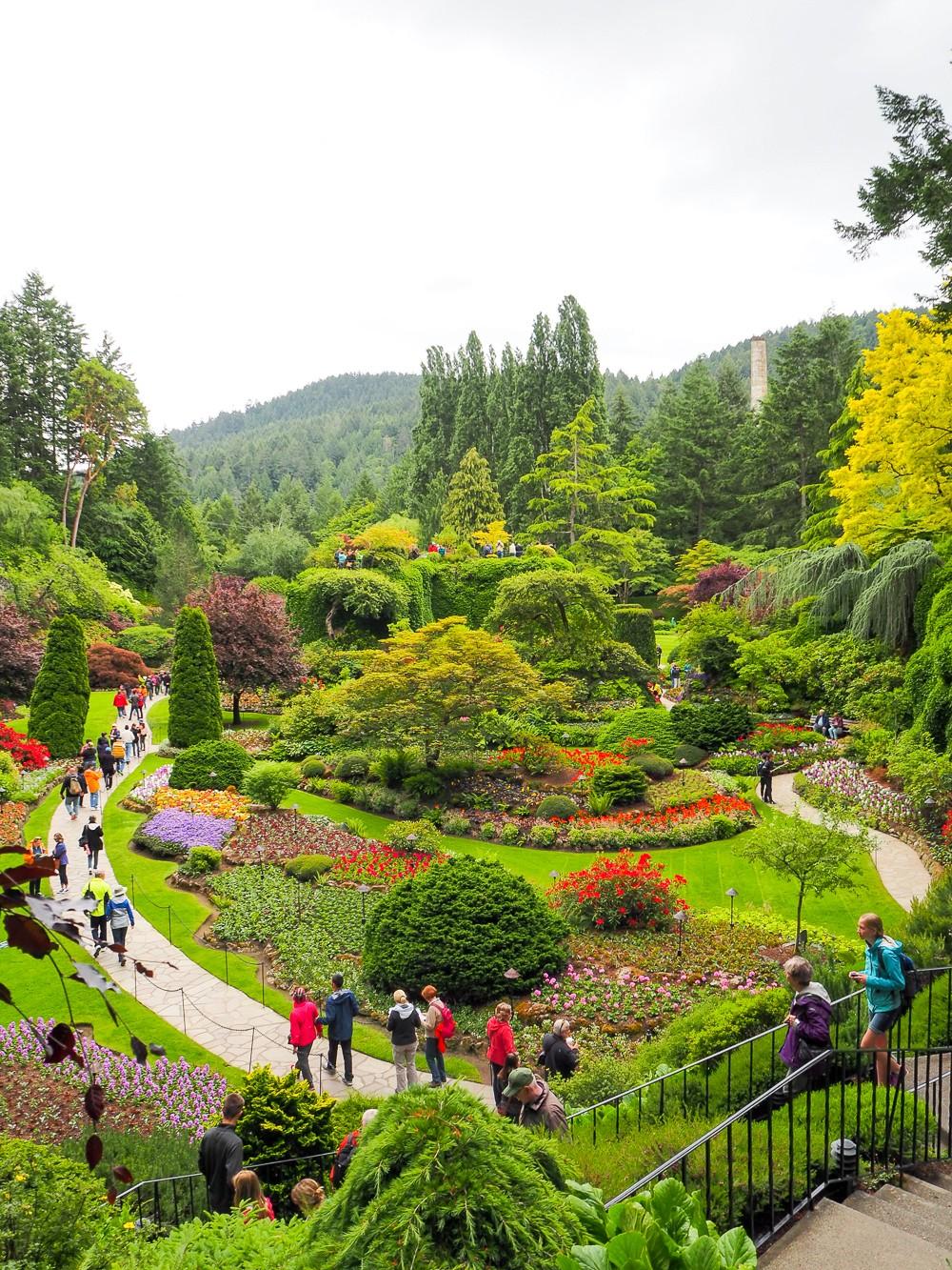 Canada Victoria Vancouver Island Road Trip Butchart Gardens
