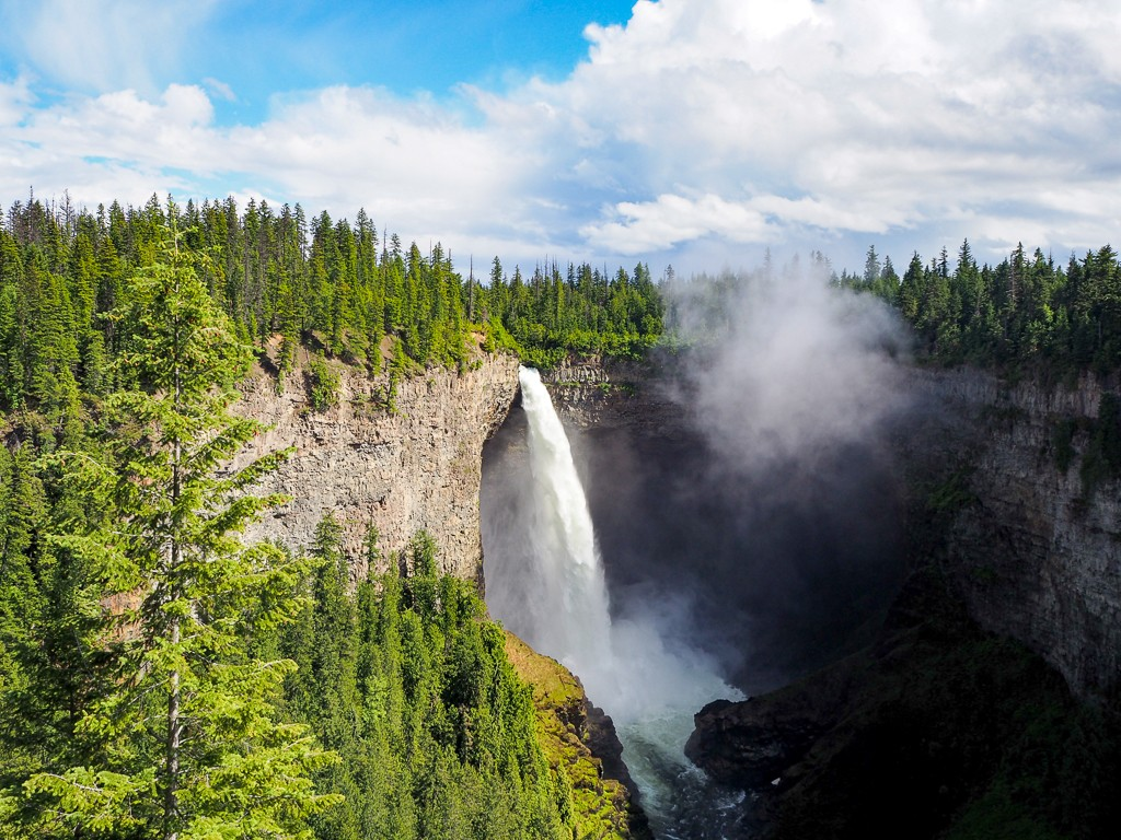 Canada, Wells Gray, Waterfall, Helmcken Falls, British Columbia, Travel, Road Trip