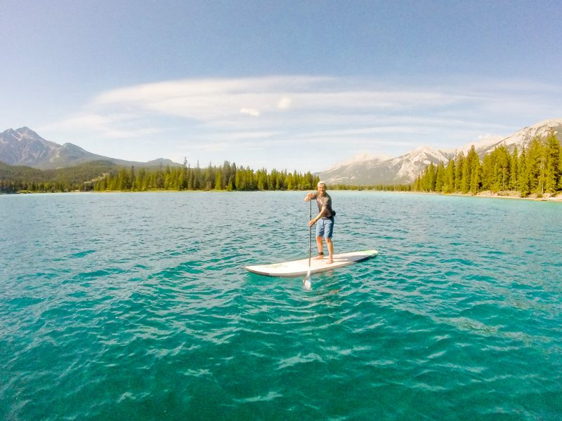 Canada Rocky Mountains Canadian Rockies SUP Paddling Jasper