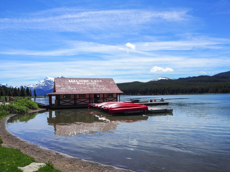 Canada Rocky Mountains Canadian Rockies Maligne Lake Jasper