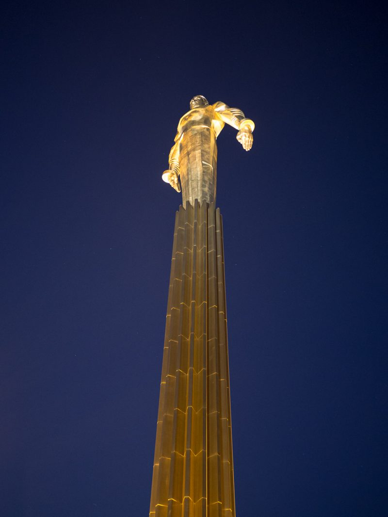 Moscow Russia Travel Weekend Yuri Gagarin Statue