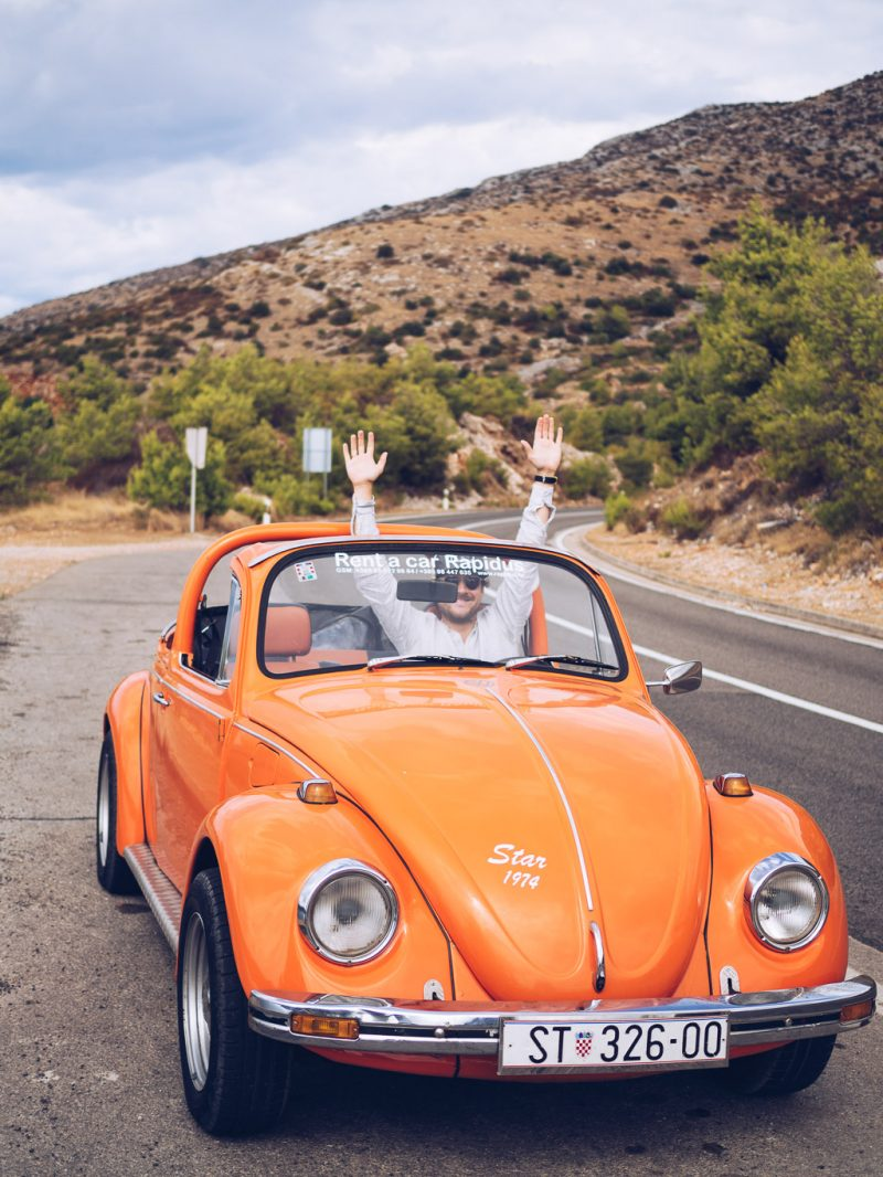 Croatia Travel Hvar Europe Island Babymoon VW Beetle Road Trip