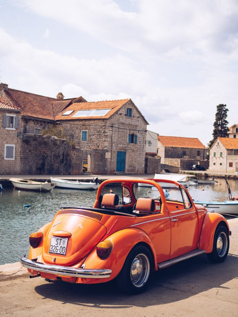Croatia Travel Hvar Europe Island Babymoon VW Beetle Road Trip Vrboska
